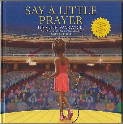 Say a Little Prayer by Dionne Warwick (2008) ~SIGNED~ HC 1ST w/CD, missing DJ