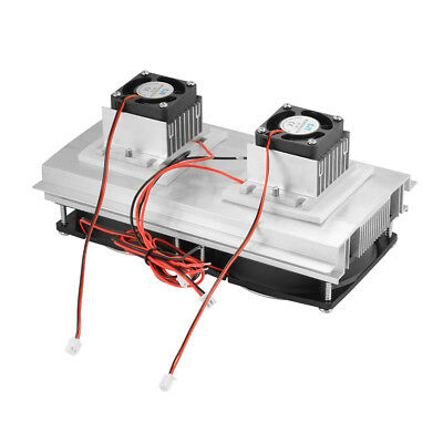 Double Fans Thermoelectric Peltier Refrigeration Cooling System Cooler Kit TE957