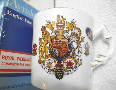 NEW Vintage Aynsley Porcelain Charles & Diana Royal Wedding Tankard Mug Cup