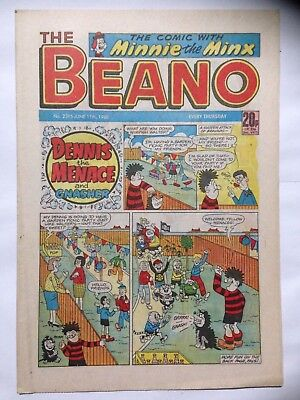 DC Thompson THE BEANO Comic. Issue 2396. June 11th 1988. **Free UK Postage**