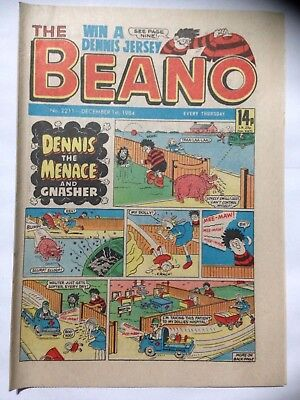 DC Thompson THE BEANO Comic. Issue 2211. December 1st 1984. **Free UK Postage**