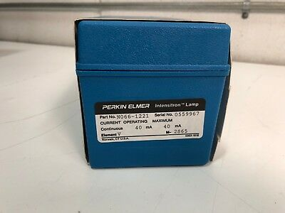 Perkin Elmer N066-1221 INTENSITRON V VANADIUM Hollow Cathode Lamp