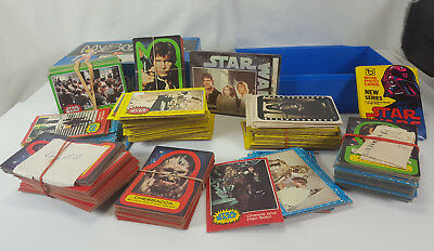 Vintage Topps Star Wars Stickers & Movie Photo 5 Sets Trading Cards & Extras