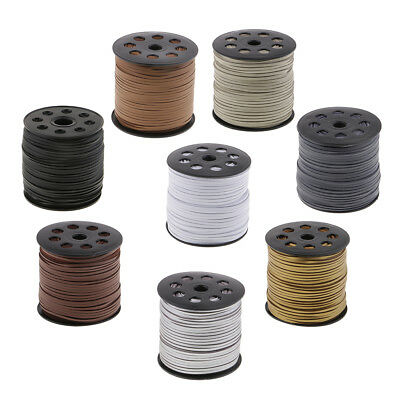 2.6mm Flat Faux Suede Leather String Jewelry Making Thread Cords 100 Yards