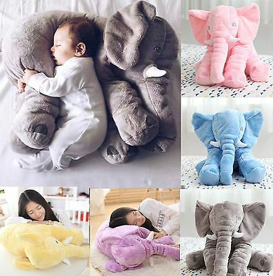 60cm Soft Pillow Elephant Children Plush Toy Doll Baby Kids Nose Cushion Lumbar