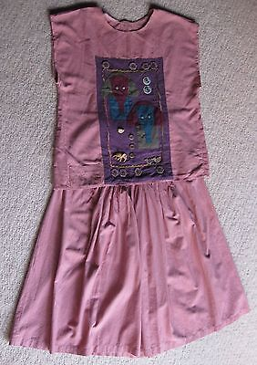 TOP & SKIRT, DUSTY PINK with ELEPHANT APPLIQUE size 14 – 16