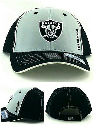 45cab98c OAKLAND RAIDERS NEW Team NFL Youth Kids Gray Silver Black Era Adjustable  Hat Cap