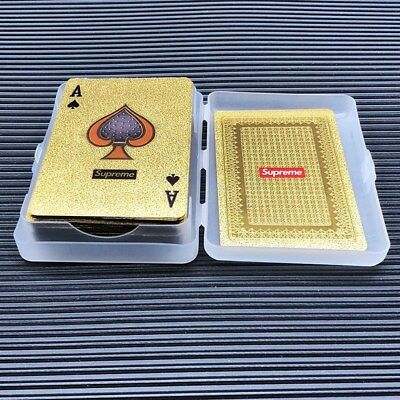 13FW Gold Deck of Playing Cards Supreme Playing Cards New Hype Hypebeast Poker
