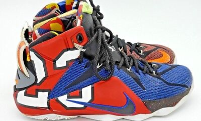 competitive price 211a1 016a7 NIKE LEBRON XII 12 SE WHAT THE Multi Color 802193-909 Sz 9.5 Mens 2B2