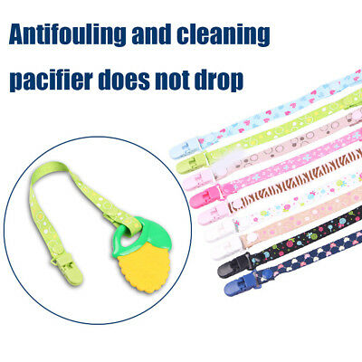 2Pcs Kids Baby Anti-lost Dummy Soother Nipple Strap Pacifier Clip Chain 40cm