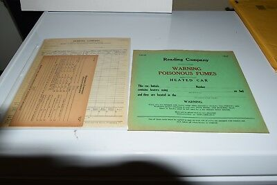 READING RAILROAD Forms