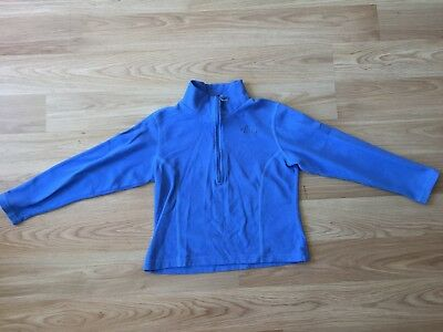 The North Face 1/2 zip fleece blue kids sz 6-7 unisex