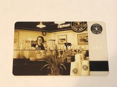 Starbucks Card 2006 Pike Place Barista Limited Edition Old Logo NEW Rare MINT