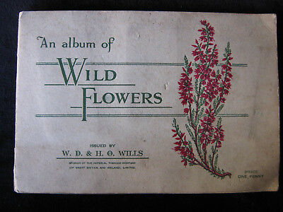 "Old W.D. & H. O. Wills Cigarette Cards/Album ""Wild Flowers"""