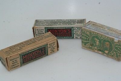 Antique 1880's 3pc Medicine Box Lot Doctor Schenck's Munyon's