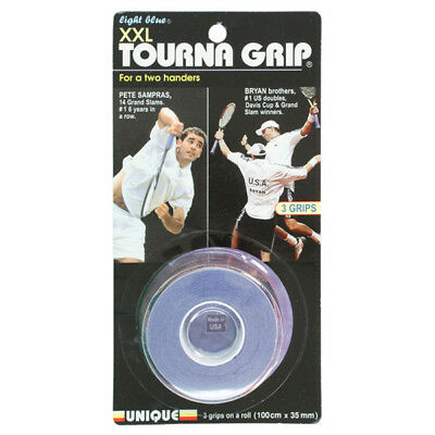 TOURNA - Tourna Grip XXL 3 Pack Blue Tennis Overgrip - (TG-1XXL)