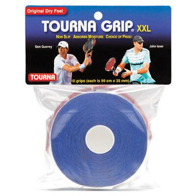 TOURNA - Tourna Grip XXL 10 Pack Blue Tennis Overgrip - (TG-10XXL)