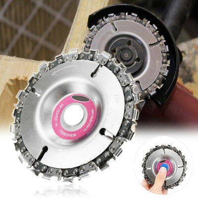 """Cut Grinder 22 Tooth Disc Chain Wood Carving 4"""" Fit For 100/115 Angle Grinder Y8"""