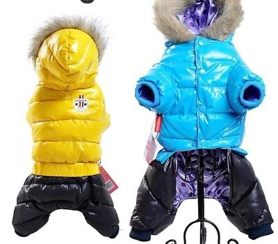 Waterproof Winter Pet Warm Down Jacket For Small Medium Dogs Casual Pets Clothes