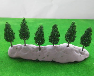New 50Pcs Good Quality 48MM Approx N/Z Scale Pine Trees