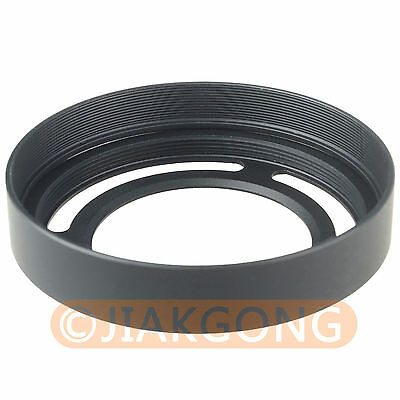 Metal Lens Adapter Ring + Lens Hood for Fujifilm Fuji X10