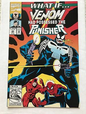 WHAT IF...? #44 Venom Possessed The Punisher! Marvel Comics 1992 Spider-Man NM