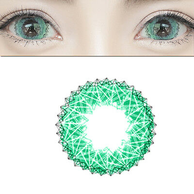 1Pair Round Big Eyes Makeup Contact Lenses Christmas Party Cosplay Manera