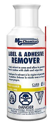 Mg Chemicals Label And Adhesive Remover, 5 Oz, Aerosol Can New