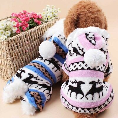 US Pet Dog Cat Puppy Sweater Hoodie Coat For Small Pet Dog Warm Costume Apparel