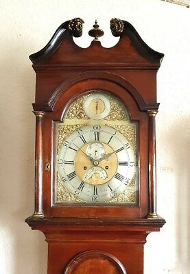 "Lovely Georgian Mahogany ""Strike / Silent"" Longcase Grandfather Clock C1760"
