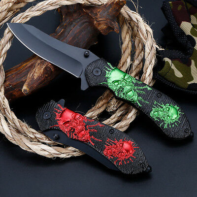 "EDC 8"" Spring Assisted Tactical Outdoor Folding Pocket Knife Blade Open Survival"