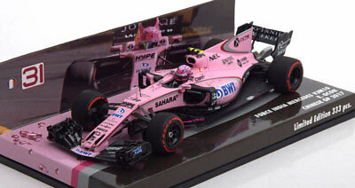 1:43 Minichamps Force India Mercedes VJM10 GP China Ocon 2017