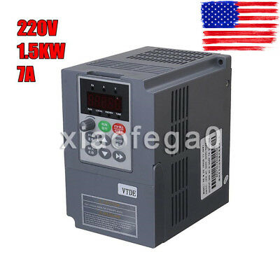 1.5KW 220V VFD Inverter 2HP 7A Frequency Variable Drive CNC Speed Control VSD US