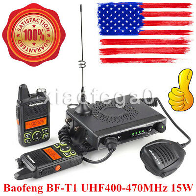 Baofeng BF-T1 UHF400-470MHz Mobile Car 2-Way Radio 15W 20CH With 2 Walkie Talkes