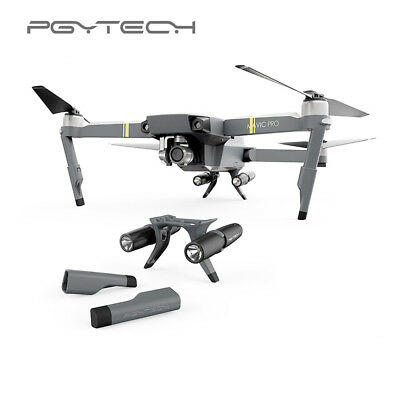 PGY DJI Mavic Pro Landing Gear Extended Leg Support Protector LED Headlamp Parts