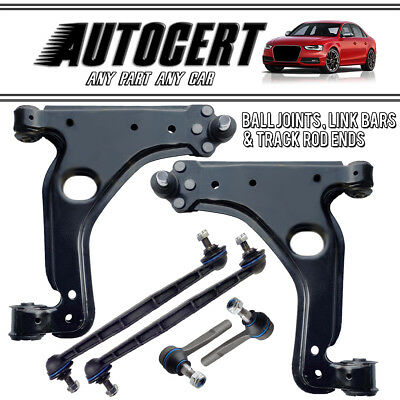 FOR VAUXHALL ASTRA H MK5 04-09 2x FRONT SUSPENSION ARMS TRACK ROD ENDS LINKS