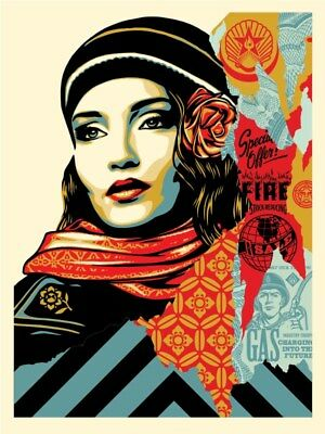 Shepard Fairey Obey Fire Sale Poster Screen Print Limited Edition Wrong Path