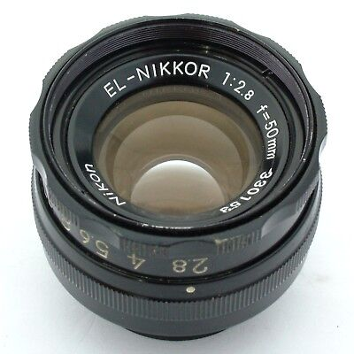 Nikon EL-Nikkor 50mm f2.8 enlarging lens, excellent condition