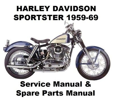 SPORTSTER XL 883 900 - Owners Workshop Service Repair Parts Manual PDF on CD-R