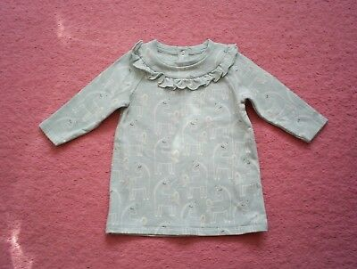 "Girls ""Marks & Spencer"" Aqua Unicorn Print Dress for Age 9-12 months BNWOT"