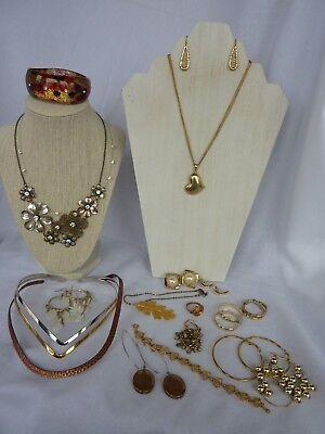 Lot of Vintage to Costume Jewelry Mixed Material Necklace bracelets Ring