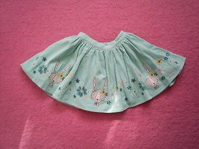 "Girls ""Marks and Spencer"" Turquoise Blue Corded Embroidered Skirt Age 4-5 Years"