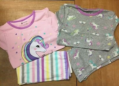 Members Mark Big Girls Unicorn Long Sleeve Pajamas, Gray/Pink CHECK FOR SIZE