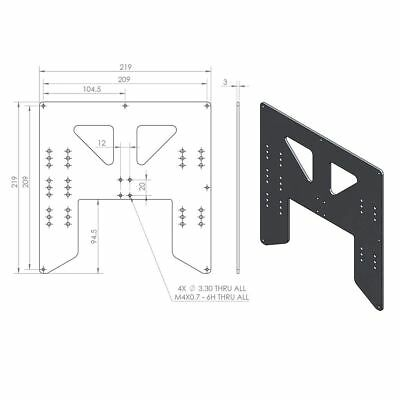 Aluminum Y Carriage Plate Upgrade for Anet A8 3D Printer F6V2