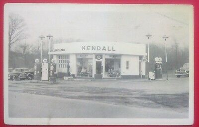 Vintage Kendall Service Station  Photo Postcard   1930's