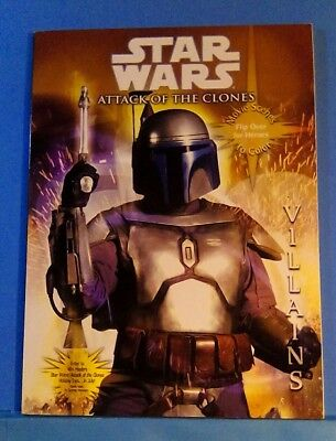 Star Wars Attack of the Clones flip over Heroes Villains Coloring book 2002 NEW