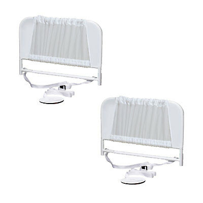 KidCo Convertible Mesh and Steel Telescopic Toddler Bed Rail, White (2 Pack)
