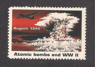 "Atomic Bomb Ends Wwii - U.s. Postage ""stamp"" - Rescinded By Usps - Enola Gay"