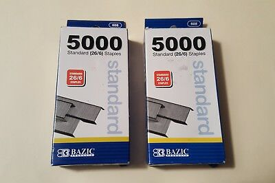 10,000 Standard Stands (26/6) Staples BAZIC NEW!