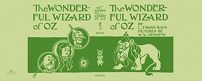 Baum THE WONDERFUL WIZARD OF OZ facsimile dust jacket for first edition book
